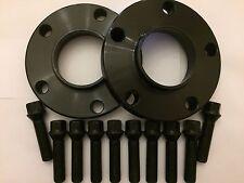 15mm BLACK HUB CENTRIC SPACERS + 10 X 40mm ALLOY BOLTS FITS AUDI M14X1.5 66.6