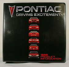 1999 PONTIAC PRODUCT INFORMATION GUIDE - FIREBIRD, GRAND PRIX, SUN, ETC.