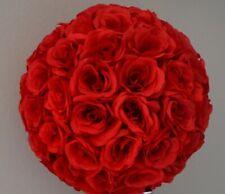 """10"""" Rose Flower Pomander Kissing Balls Wedding, Home Decoration Red"""
