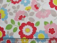 Cath Kidston circus flowers 50cm SQUARE FQ lightweight cotton fabric new