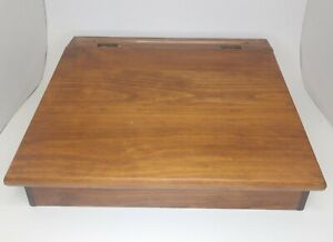 Vintage Stained Wood Bible Book Storage Box , Kids School Home Work Desk