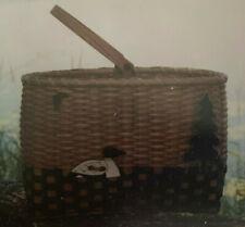 Basket Weaving Pattern Loon on the Lake by Ronda Brugh