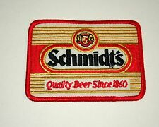 Vintage Schmidt's Since 1860 Brewing Beer Distributor Cloth Patch 1980s NOS New