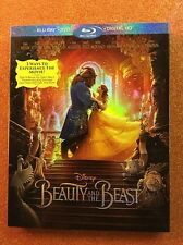 Beauty and the Beast (Blu-ray/DVD/Digital HD, 2017) NEW w/ Slipcover; Disney