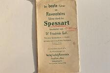 23568 Friedrich Goll Ravenstein Führer Spessart mit Landkarte um 1925