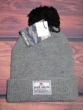 a1864119120 MENS ECKO UNLTD GRAY POM BEANIE HAT CAP ONE SIZE