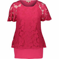 PHASE EIGHT Women's JOLEE Burnout Top, Punch Pink, size UK 10