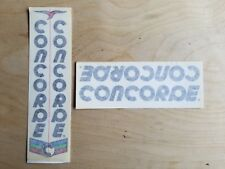 Concorde Gavina Bicycle Decals - Transfers - Stickers - Black Text