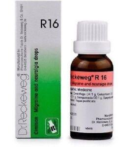 Dr. Reckeweg R16 Migraine and Headache Drops - 22ml