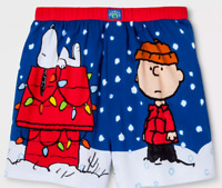 0ae23f08f9 NWT Men s Peanuts Snoopy Charlie Brown Boxer Shorts Just Chillin  underwear  S M