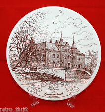 Gustavsberg Sweden Nykopingstallriken NR5 1982 Decorative Wall Plate White Brown