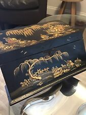 More details for antique chinoiserie stationary letter box as found