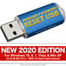 #1 Windows Password Reset Recovery USB for Windows 10, 8, 7, Vista, XP NEW 2020