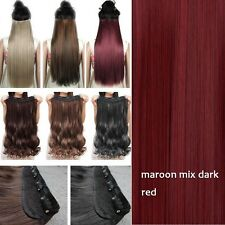 100% Real as Remy Human Hair Clip in New Full Head Hair Extensions Extentions Fi