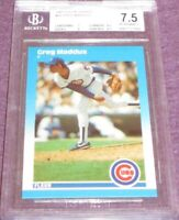 Greg Maddux Chicago Cubs 1987 Fleer Update XRC Rookie Card graded BGS 7.5 PSA