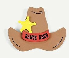2 pack - Ranch Hand Badge Craft Kit Western No Glue Needed