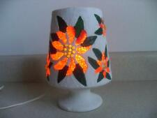 1970's vintage PLASTER POINSETTIA melted popcorn bead LIGHT TV LAMP Christmas