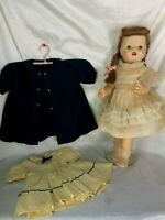 1950's HP BJD TINA Toddler IMP Co Saucy Walker Doll Orig Outfits Very Nice Cond