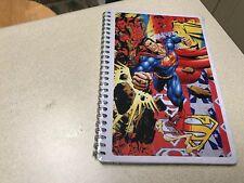 Superman Man Of Steel Shield DC Comic Tin Spiral Notebook / Notepad