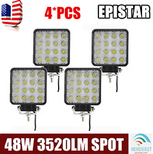 4Pcs LED 48W 12V 24V Work Light Spot Light Off Road ATV SUV Car Boat Jeep Truck