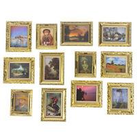 Dollhouse Miniature 1:12 Mini Decorative Accessories Antique Frame Oil  ZH