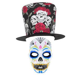 Male Day of the Dead Fancy Dress Kit - Halloween Party Wear