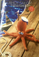 KNITTING PATTERN Alan Dart Seafaring Octopus Toy Ahoy Sailor Nautical PATTERN