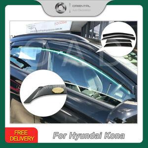 Premium Weathershield Weather Shields Window Visors for Hyundai Kona 17+ SJ