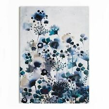 Art for the Home Moody blue Watercolour Printed Canvas