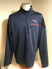 New England Patriots Nike 1/4 Zip Pullover Long Sleeve Sweatshirt Coach On Field