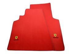 Floor Mats For Ferrari 550 Maranello 1996-2002 Red Tailored Carpets Set LHD NEW