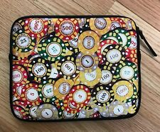 """Lucky Brand Poker Chip Electronics iPad Protected Pouch Sleeve 9.75"""" x 7.75"""""""