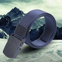 Wild Men Canvas Belt Hypoallergenic Metal free Plastic Automatic Buckle Cases