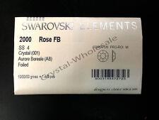 1440 (10 gross) Swarovski 2000 4ss flatback rhinestones ss4 CRYSTAL AB (001 AB)