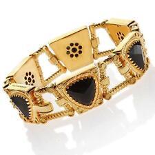 New Rebecca Hydro Onyx Deep Dazzle Bracelet