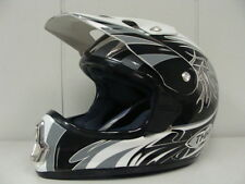 THH TX-10 MOTORCROSS HELMET #7 SILVER WITH BLACK AND WHITE (XLARGE) DOT APPROVED