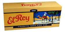 (50) Fifty Cartons of El Rey Full Flavor/King Size Filter Tubes - 200ct per Box