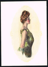 1906 Antique Howard Chandler Christy Victorian Girl Lady Fashion Art Print a