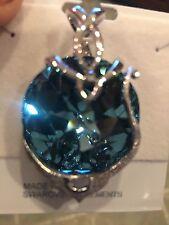 Swarovski Large Pendant w/Aqua Marine Crystal NWT