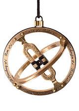 Ringsonnenuhr, Taschensonnenuhr a. Messing, Design Antik Sundial Messgerät