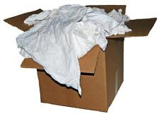 25 LB. BOX OF RECLAIMED WHITE COTTON T-SHIRT / PAINTERS / ROOFERS /  SHOP RAGS