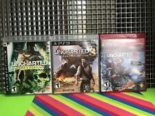 LOT OF 3 PS3 GAMES UNCHARTED  2,3 & Drakes Fortune  PlayStation 3 PS3 Complete