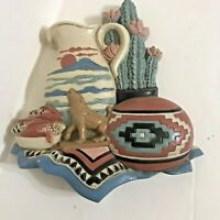 BURWOOD Products 3374 - 2A SOUTHWESTERN 3-D WALL HANGING DECOR VTG 1997 USA Made