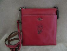 COACH DISNEY 37534 Minnie Motif Messenger Crossbody Leather Handbag Purse NWT