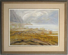 Gisele Comtois-Osgood Canadian Oil/Masonite Port-au-Persil Quebec Landscape qqoo