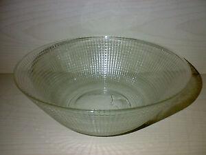 Glas Schale Glasschale Greifswald VLG Wilhelm Wagenfeld * Dia: 21 cm * LOOK --->