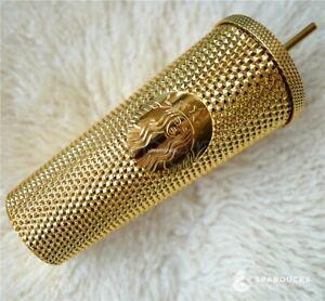 Sparducks Custom Gold plated Studded tumbler 710ml starbucks straw tumbler