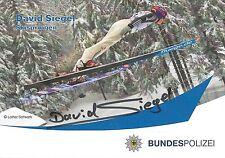 Autogramm David Siegel Skisprung Skispringen Deutscher Meister Schnäppchen 2x