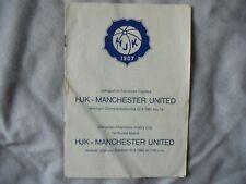 More details for hjk helsinki v. manchester united - 22.9.65 - european cup