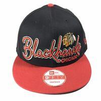NEW ERA CHICAGO BLACKHAWKS SPELL OUT NHL HOCKEY 9FIFTY SNAPBACK BASEBALL HAT CAP